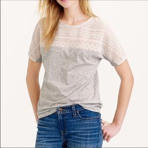 J crew Embroidered eyelet T-shirt